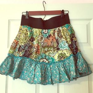 Cute print elastic skirt